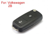 Remote Key Shell 2 Buttons with Waterproof HU66 for Volkswagen Touareg 5pcs/lot
