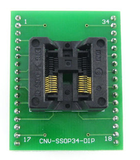 CNV TSSOP34 to DIP34 socket 34 pin chip adapter SSOP34 socket