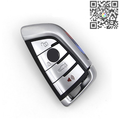 Remote Key 4 Buttons 315/433/868mhz Silver Side for BMW CAS4 F Platform 7 Series
