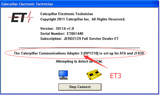 CAT ET 3 DataLink Diagnostic Adapter III for Caterpillar CAT