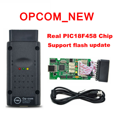 New OPCOM Real PIC18F458 V1.7 OP-COM for Opel Diagnostic Tool support flash update
