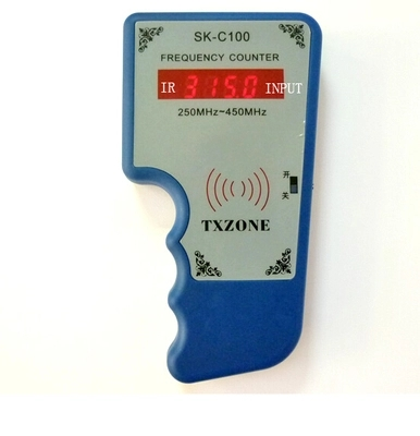 Hand held wireless IR Remote frequency counter 250-450Mhz